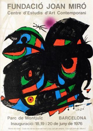 Affiche Miró - FUNDACIO JOAN MIRO - INAUGURACIO. BARCELONA. Affiche originale de 1976.