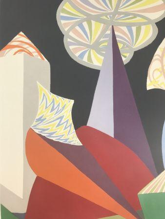 Lithographie Balla - FUOCHI D'ARTIFICIO ( particolare )