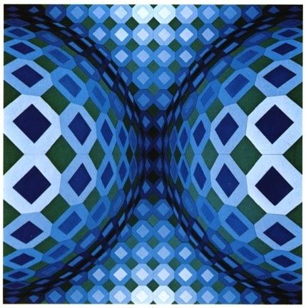 Sérigraphie Vasarely - Gaia VY - 47 G, from Gaia series