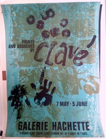 Affiche Clavé - Galeria Hachette 7 May 5 Jun