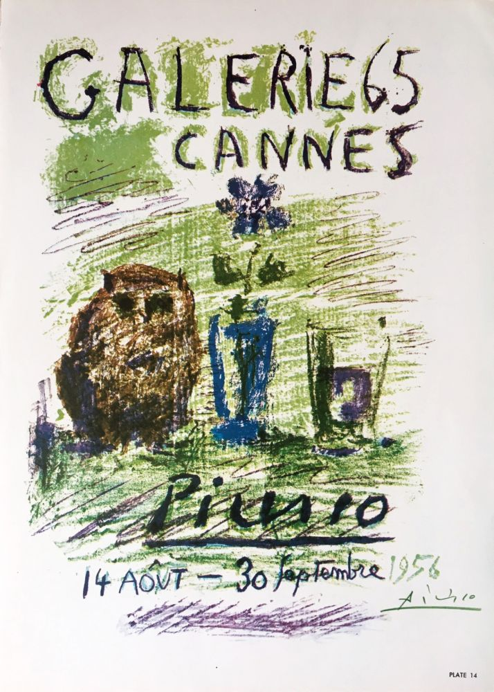 Lithographie Picasso - Galerie 65 Book Plate (Hand Signed)