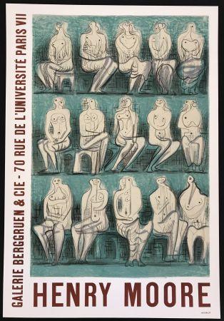 Affiche Moore - Galerie Berggruen & Cie (Seated Figures)