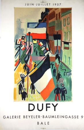 Lithographie Dufy - Galerie Beyeler   Bale