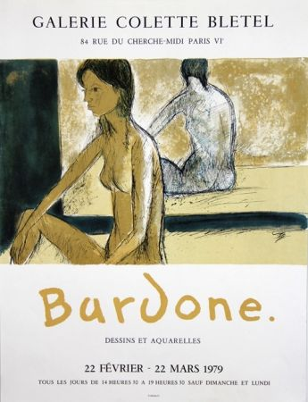 Lithographie Bardone - Galerie Colette Bletel