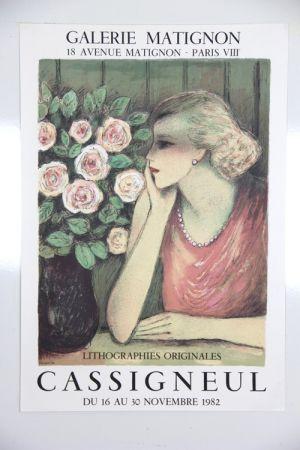 Lithographie Cassigneul  - Galerie de Matignon