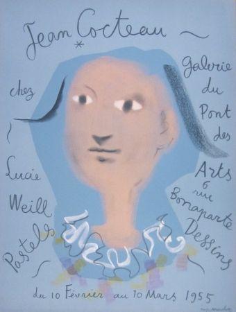 Lithographie Cocteau - Galerie du Pont des Arts, chez Lucie Weill