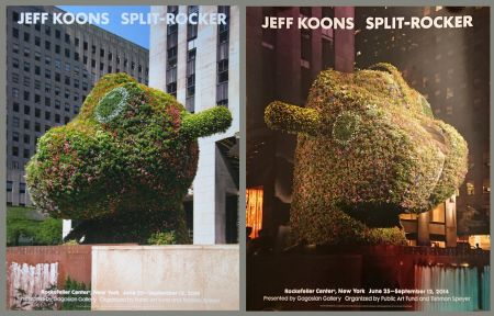 Affiche Koons - '' Galerie Gagosian '' NYC