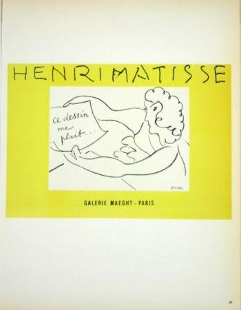 Lithographie Matisse - Galerie Maeght  Ce Dessin me Plait