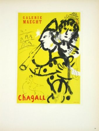 Lithographie Chagall - Galerie Maeght Juin 1957