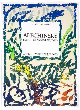 Affiche Alechinsky - Galerie Maeght Lelong, Alechinsky, FIAC 84, 1984