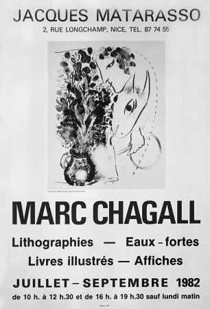 Affiche Chagall - '' Galerie Matarasso ''