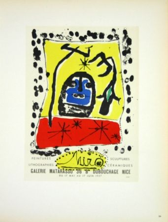 Lithographie Miró - Galerie Matarasso Nice