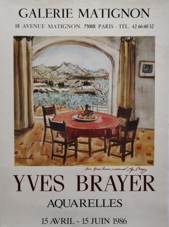 Affiche Brayer - Galerie Matignon - 1986 - Aquarelles