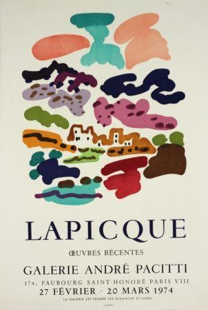 Lithographie Lapicque - Galerie Pacitti
