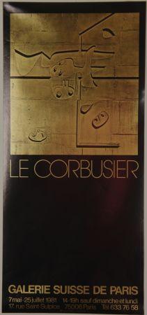 Lithographie Le Corbusier - Galerie Suisse de Paris Juillet 1981