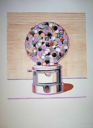 Linogravure Thiebaud - Gamball violet