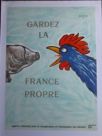Affiche Savignac - Gardez la France propre
