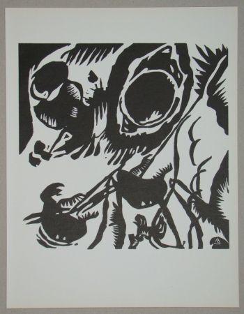 Gravure Sur Bois Kandinsky - Garten der Liebe