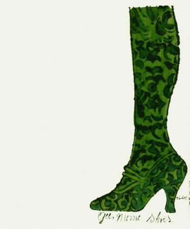 Lithographie Warhol - Gee, Merrie Shoes (Green)