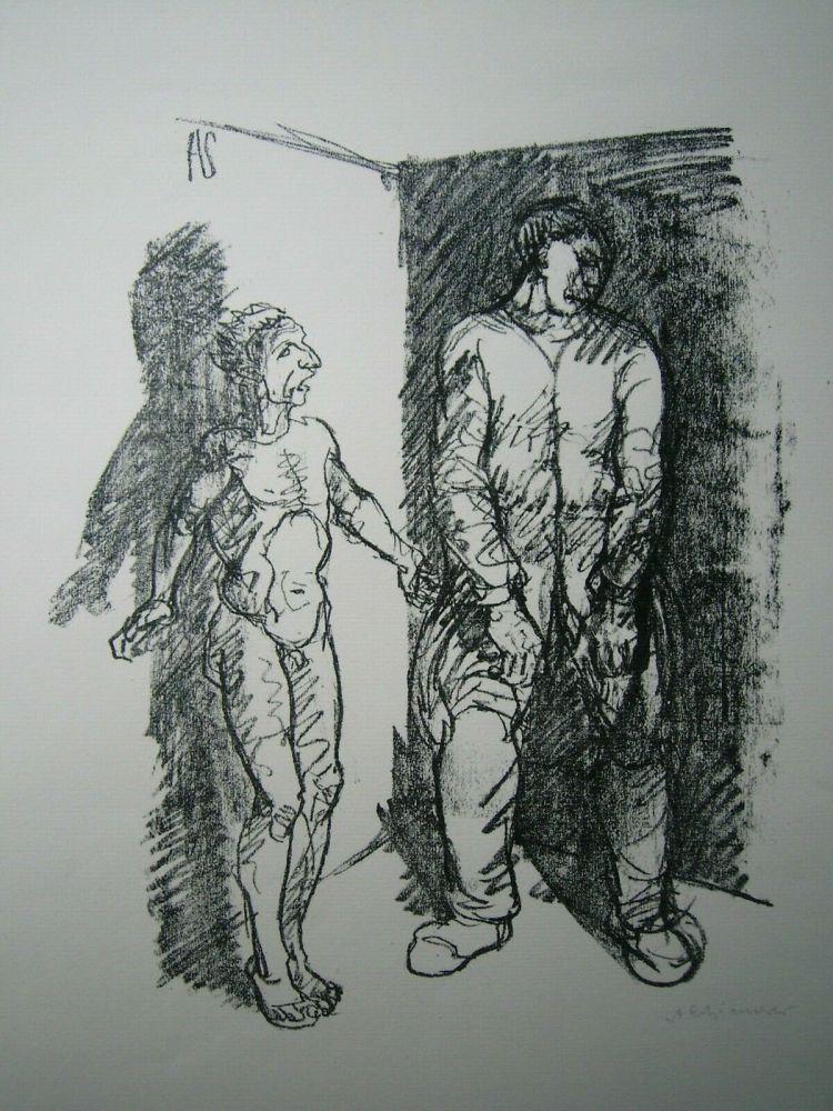 Lithographie Schinnerer - Gefangener (Prisoner)
