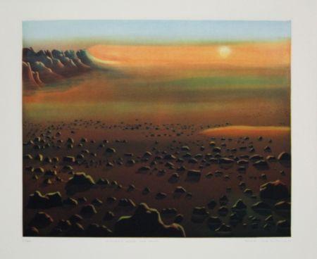 Eau-Forte Et Aquatinte Maibaum - Genesis:  Wüste und Sonne