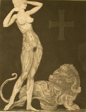 Eau-Forte Fuchs - Genie und Tier