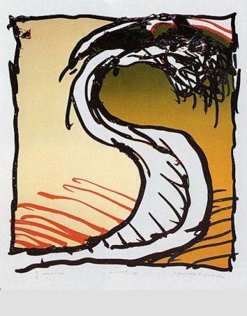 Lithographie Alechinsky - Genou dans la grande r.