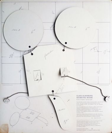 Lithographie Oldenburg - Geometric Mouse, Scale D