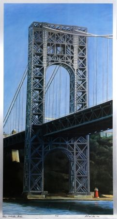 Lithographie Haas - George Washington Bridge