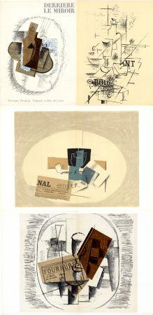 Livre Illustré Braque - GEORGES BRAQUE. Papiers collés 1912-1914. Derrière le Miroir n° 138. Mai 1963.