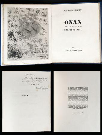Livre Illustré Dali - Georges Hugnet : ONAN. 1 gravure originale signée (1934)