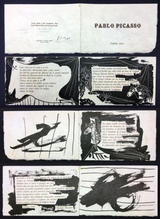 Livre Illustré Picasso - Georges Hugnet : PABLO PICASSO (Paris, 1941).