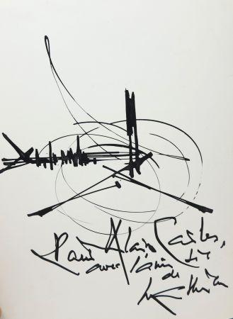 Aucune Technique Mathieu - Georges Mathieu (1921-2012). Encre et pinceau. Signé.