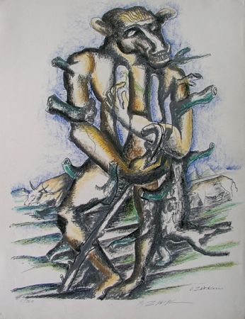 Lithographie Zadkine - Gerion