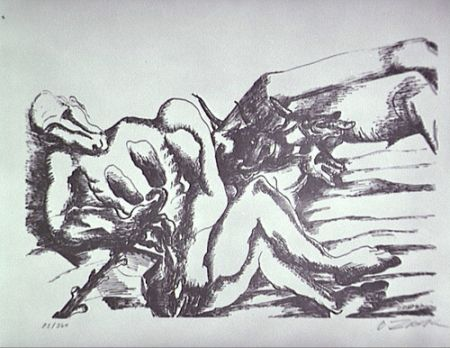 Lithographie Zadkine - Gerion (A)