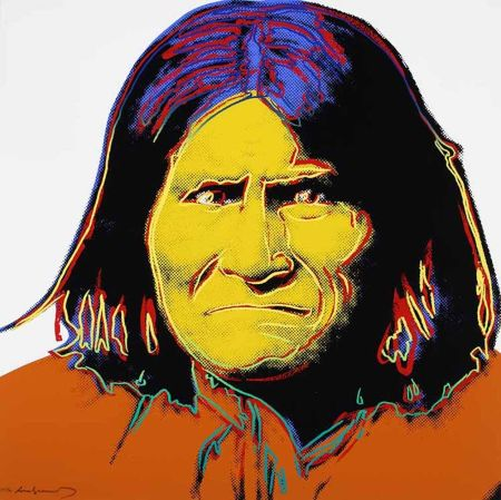 Sérigraphie Warhol - Geronimo, from Cowboys and Indians