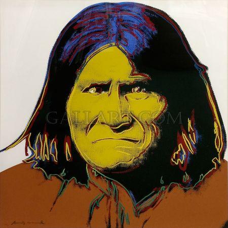 Sérigraphie Warhol - Geronimo Fs Ii.384