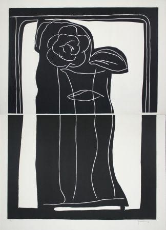 Linogravure Hernandez Pijuan - Gerro Amb Flors / Vase With Flowers