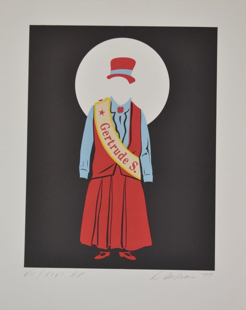 Lithographie Indiana - Gertrude Stein - Mother of us all portfolio