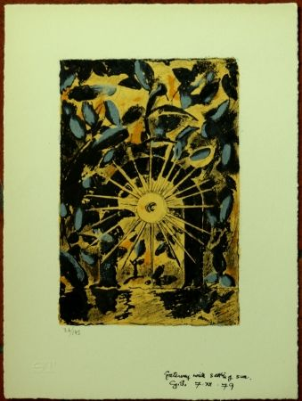 Lithographie Sutherland - Geteway With Setting Sun