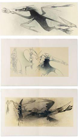 Livre Illustré Lam - Ghérasim Luca : Apostroph'Apocalypse. 14 eaux-fortes de Wifredo Lam (1967).