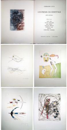 Livre Illustré Ernst - Gherasim Luca : L'EXTRÊME-OCCIDENTALE. Gravures de Max Ernst, Victor Brauner, Dorotea Tanning, Hans Arp, Jacques Hérold, Wifredo Lam, Roberto Matta.