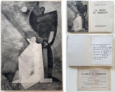 Livre Illustré Marcoussis - G.Hugnet : LA BELLE EN DORMANT. 1 des 10 avec l'eau-forte de Marcoussis (1933).