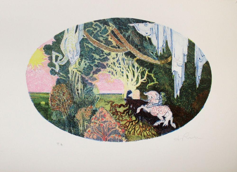 Lithographie De Rosa - Giardino