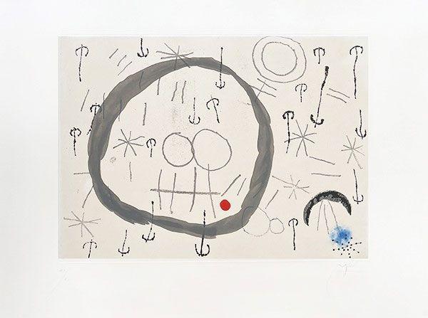 Gravure Miró - Giboulées
