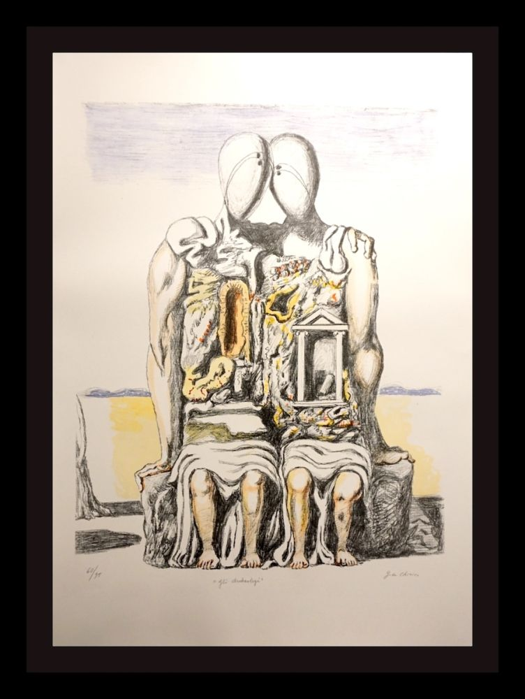 Lithographie De Chirico - Gil Archeology