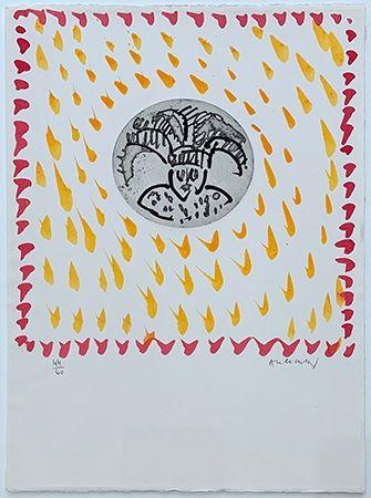 Gravure Alechinsky - Gille de Binche