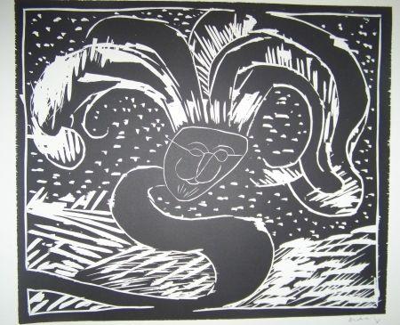 gravure sur bois de pierre alechinsky gilles de binche sur amorosart. Black Bedroom Furniture Sets. Home Design Ideas