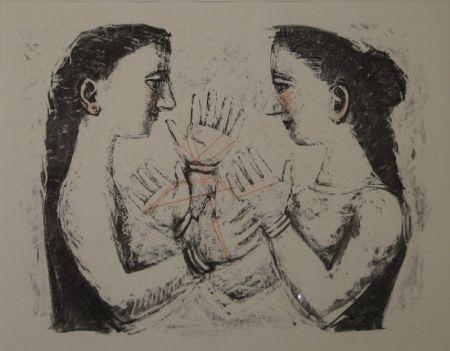 Lithographie Campigli - Gioco Con il Filo