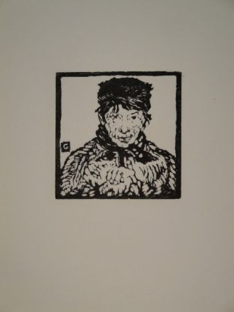 Gravure Sur Bois Giacometti - Giovanin da Vöja